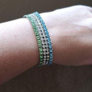 Swarovski stretch crystal bracelets